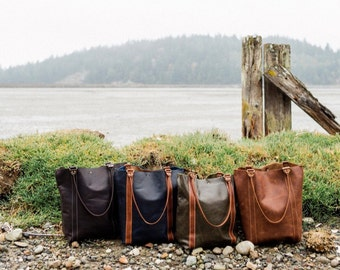 Coast-to-Market Tote : Leather Tote