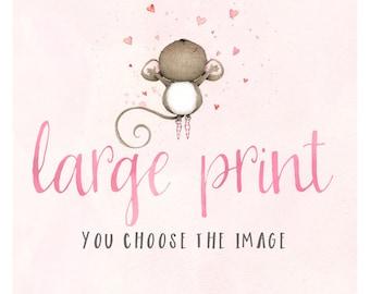 "art print - children's wall art - illustration - print - art - ""Large Print"""
