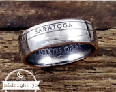 Coin Ring Saratoga National Park Quarter Double Sided