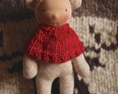 Selma, Wee Baby Deer doll by Fig and Me, waldorf inspired, natural toy, handmade doll.