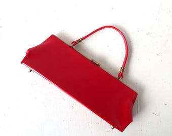 Vintage Red Handbag | 1950s Purse