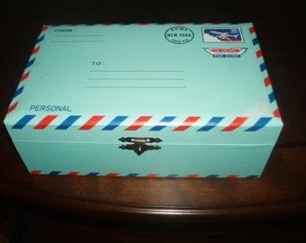 Vintage Music Box Postal Design
