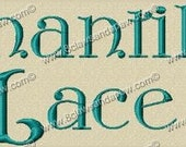 Chantilly Lace Embroidery Font Includes 3 Sizes