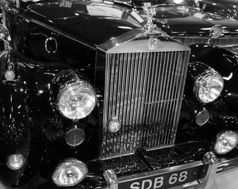 1951 Rolls-Royce Silver Dawn Car Photography, Automotive, Auto Dealer, Muscle, Sports Car, Mechanic, Boys Room, Garage, Dealership Art