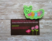 Planner Accessories - Lime Green Spring Caterpillar With A Rainbow Body Paper Clip Or Bookmark - Accessories For Girls - Garden Bugs