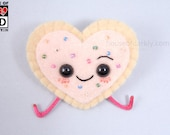 MADE TO ORDER: Pop Tart Heart plush pin