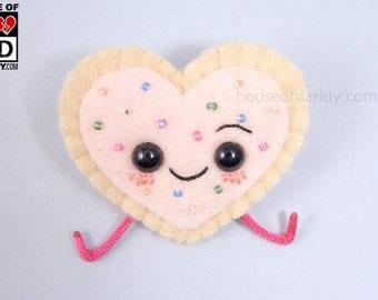 MADE TO ORDER: Pop Tart Heart plush pin