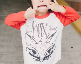 SALE! Kids No Fox Given Baseball Tee Size 2