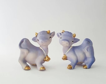 Purple Cow Salt and Pepper Shakers