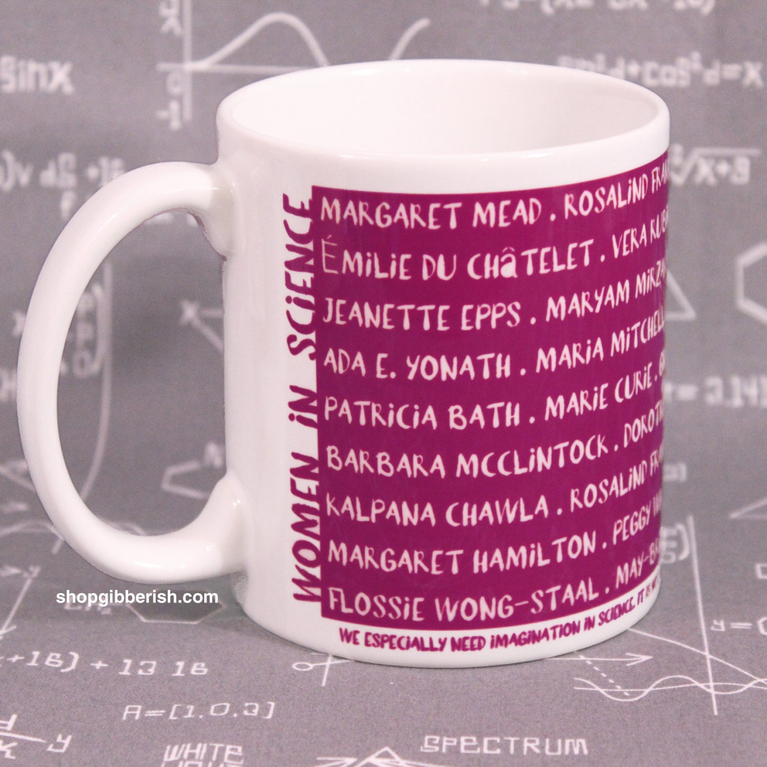 Women in Science Mug Coffee Cup Tea Cup Chemistry Science