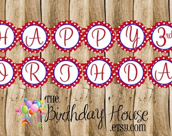 Snow White Party - Custom Happy Birthday Banner by The Birthday House