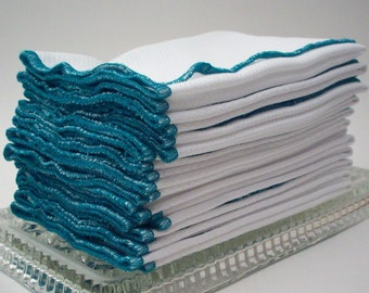Unpaper Towels - Teal Green Bordered