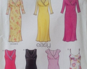 Misses Sleeveless Dress Pattern Size 8-18 New Look 6035 Simplicity Pattern
