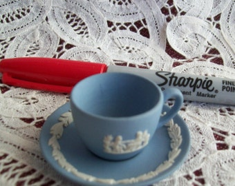 Vintage Miniature Wedgewood Cup and Saucer