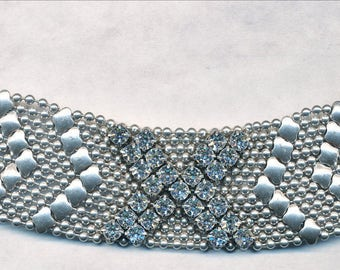 FAB Rhinestone BRACELET with ball chain beads