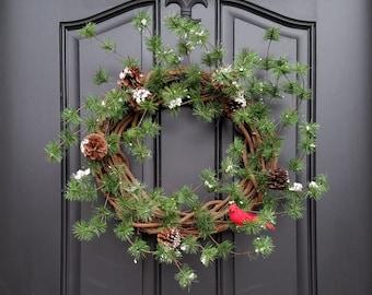 Minimalist Christmas Decor, Simple Christmas Decor, Minimalist Wreath, Christmas Wreaths, Modern Holiday Decor, Contemporary Wreaths