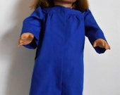 Royal Blue graduation cap and gown fits American Girl or boy