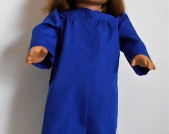 Royal Blue graduation cap and gown fits American Girl