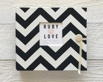 Black Chevron Stripe | BABY BOOK