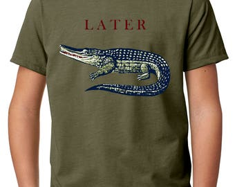 alligator shirt - boys shirts - animal shirt - boys tshirts - gators - boys clothing - childrens clothing - gift for kids - LATER GATOR