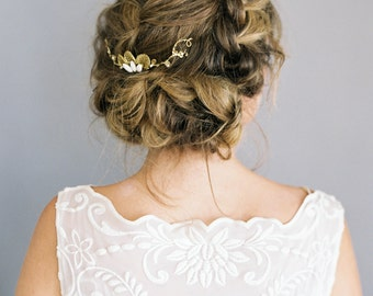 """Beautiful gold and ivory hair comb """"Lynley"""""""