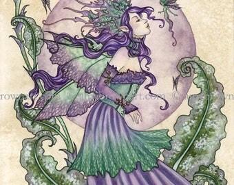 Pixie Gossip fairy 8X10 PRINT by Amy Brown