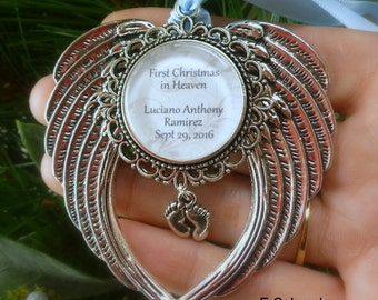 "Memorial Baby / Miscarriage Ornament ""First Chritmas in Heaven"""