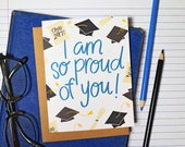 I am so proud of you, you did it, Graduation card, Class of 2017, Cap and Gown, Diploma, high school graduation, college, greeting card