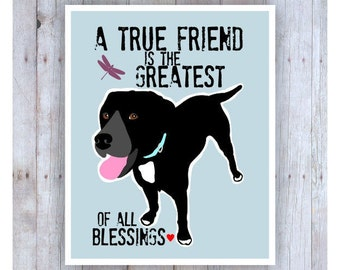 Labrador Retriever Art, Lab Art, Lab Print, Lab Poster, Labrador Retriever Gifts,Inspirational Quote, Inspirational Art, Dog Decor