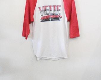 80's Corvette Baseball Tee