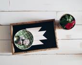 Reclaimed wood tray; serving tray, decorative tray, vanity tray, wooden tray, jewelry tray, ottoman tray, nordic decor, boho decor, aztec