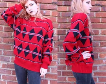 Vintage 80's geometric sweater