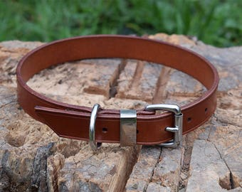 Simple Leather Dog Collar - size L
