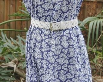 Vintage Rockabilly Swing Dance Paisley Dress