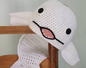 Beluga Whale Hat, Crochet Beanie, Fish Hat, Whale, Men, Women, Boys, Girls, Holiday Gift, Halloween Costume, Baby, Christmas, Gift, Winter