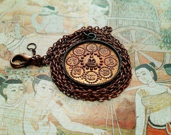 Thai Buddhist Medallion Necklace - large