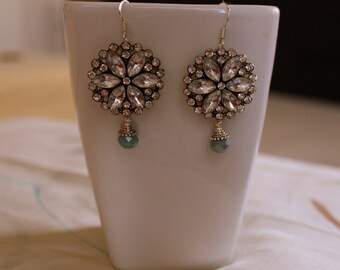Mother's Day Gift, Crystal Earrings, Wedding Earrings, Bridal Jewelry, Chandelier Earrings, Elegant Christmas Earrings, Dangle Earrings