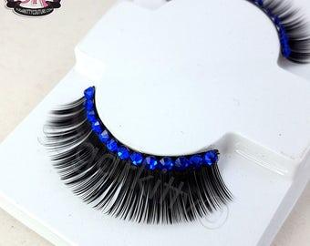 Semi-Custom Rhinestone Bold Fringe False Eyelashes  - SugarKitty Couture