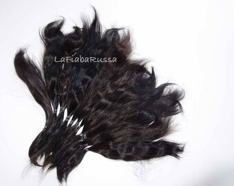 Black Mohair combed Locks Doll Hair long 8-10 in for reroot Blythe, pukifee, reborn, waldorf, pullip, neemo, bjd, doll wig, Lafiabarussa