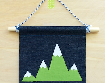Mountain Wall Banner - Wall Penant  - Wall Flag