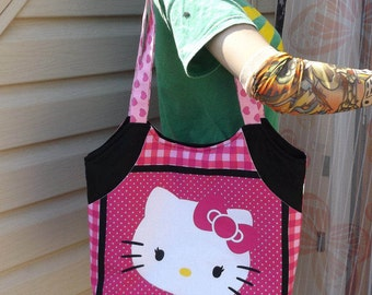 Hello Kitty Large Tote  Bag with Pockets  Pink Sanrio