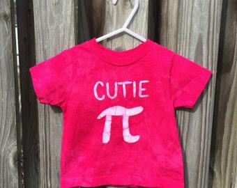 Kids Pi Day Shirt, Girls Pi Day Shirt, Toddler Cutie Pi Shirt, Kids Math Shirt, Pink Cutie Pi Shirt, Nerdy Kids Shirt (18 months)