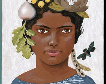 Original painting: Young Girl with Turnip