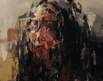 The Stranger, Original Oil Painting