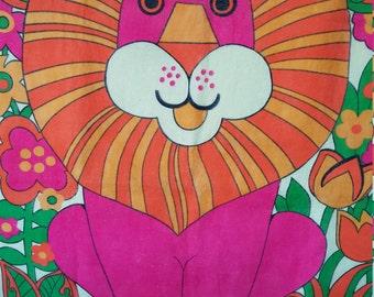 Psychadelic 60's Lion Throw
