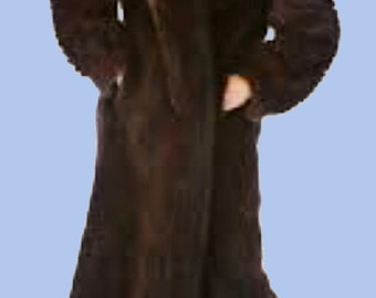 Women's Rich Sable Brown full Mink coat  SZ S-M