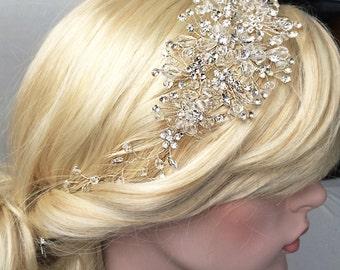 Wedding Birdcage Crystal rhinestone headband wreath