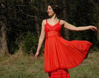 Size Small... Vintage 1950s Converted Slip Dancing Dress... Ultimate Vintage Dance Dress