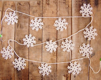 White Garland, Winter Garland, Winter Decor, Winter Wedding Decor