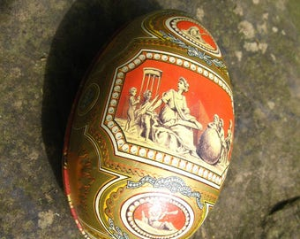 VINCENZO FABERGÉ EGG Collectible Tin Trinket Box 4.5 by 2.5 inches Container with Lid, Includes Original Pamphlet, Affordable Faberge Eggs